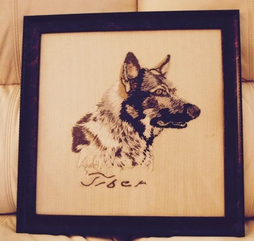 Custom pet portrait, Thre...