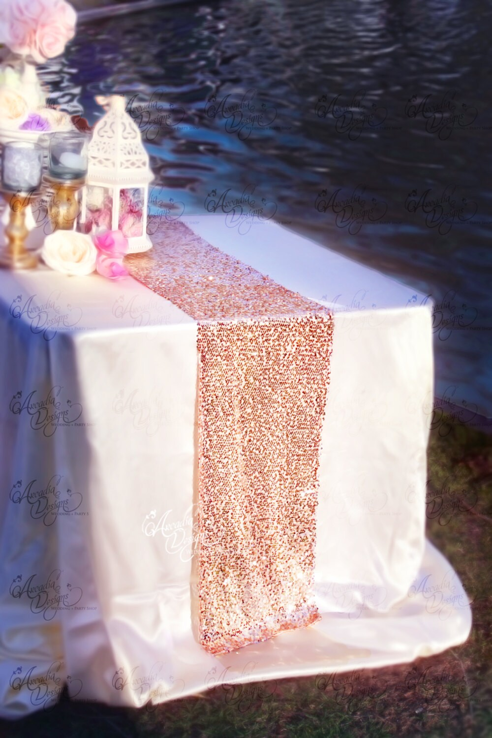 gold table runner wedding table runners Rose Gold Sequin Table Runner Sparkly Mauve Pink Sequin Runner for Wedding Party Dinner Reception Gift Event Bridal Shower 1 DAY SHIP