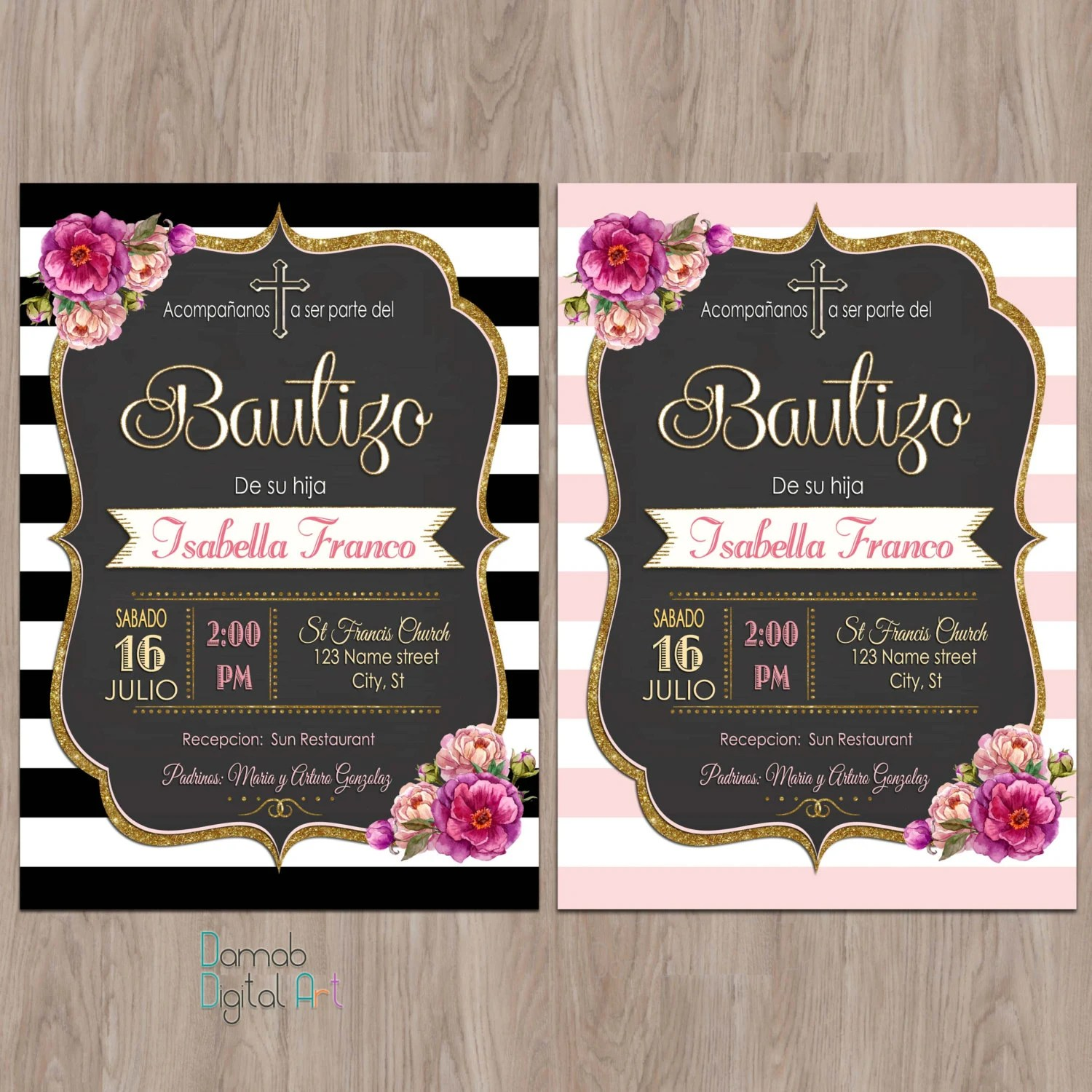 spanish invitation wedding invitations in spanish Bautizo invitations invitaciones de bautizo invitations de bautizo spanish baptism invitation Baptism Invitation girl invitacion