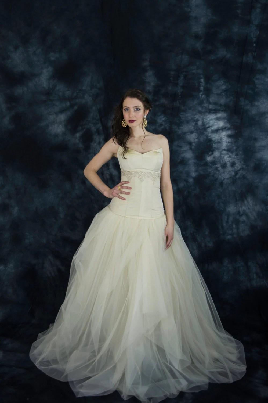 tulle wedding skirt wedding dress skirt Champagne draped tulle bridal skirt beige tulle wedding skirt two piece wedding dress bridal separates 2 piece wedding dress