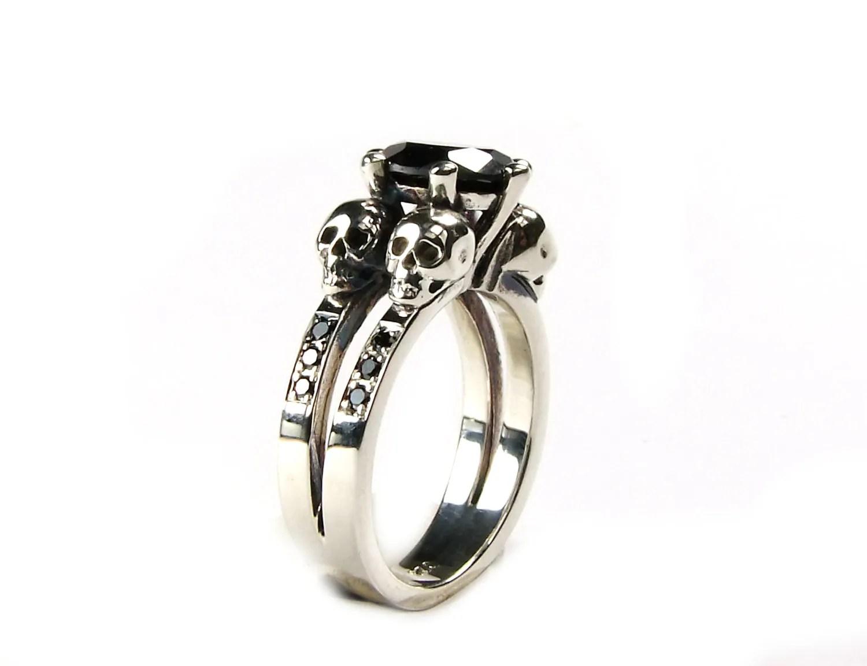 skull engagement ring skull wedding ring skull wedding rings