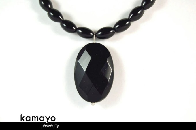 BLACK ONYX NECKLACE - Fac...