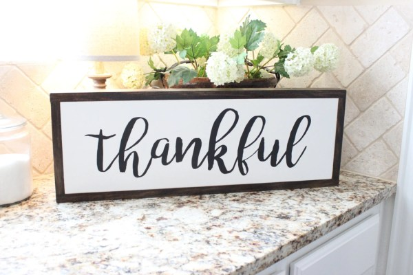 Thankful Wood Sign | Pain...