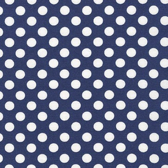 SPOT ON - Navy Quilting Fabric