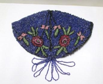 Antique Evening Bag Micro Beaded Reticule Vintage Edwardian or Victorian Seed Bead Purse Art Nouveau Art Deco w/ Tassel
