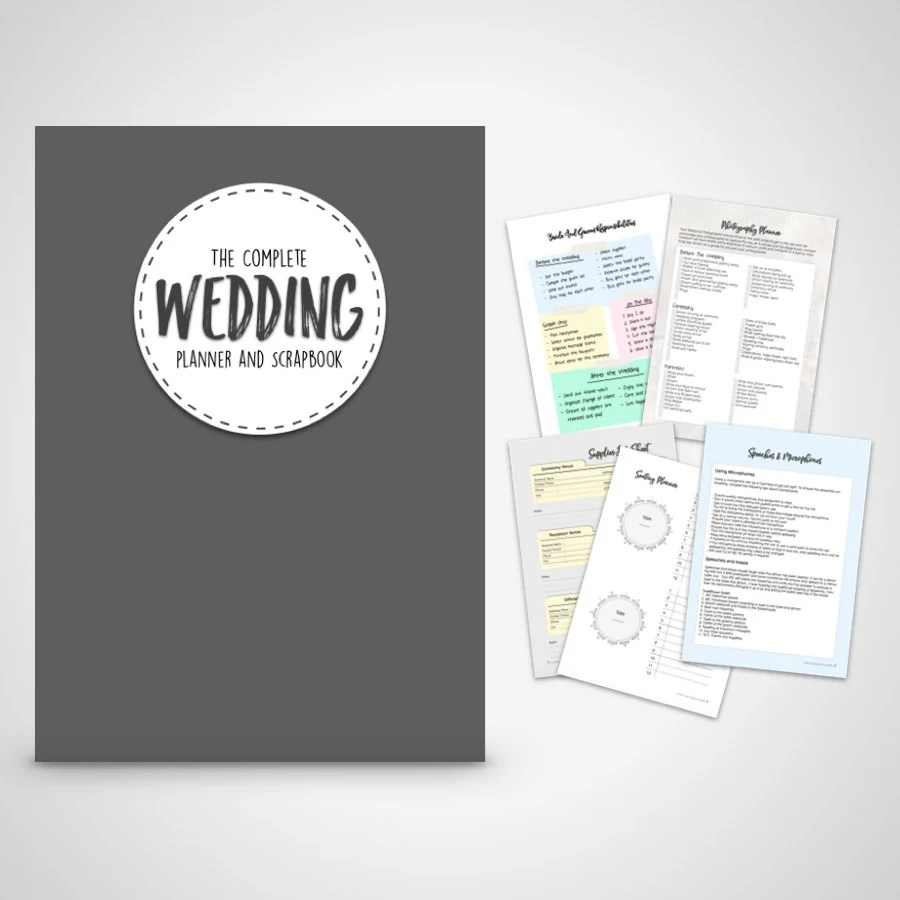 wedding binder wedding planner binder Wedding Planner book wedding organizer Print at home Digital Download Wedding Planner Wedding Binder Printable wedding checklists