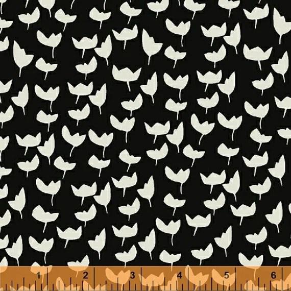 Lotta Jansdotter Fabric - Hemma - Lilla in Ebony