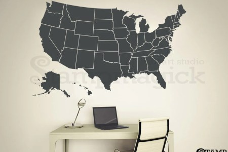 united states map wall decal dry erase america usa by decalgtr