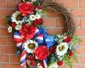 Summer Patriotic Rose & S...