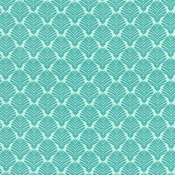 Vanessa Vargas Wilson Fabric Collection - Dominicana - Aqua Palm Leaves