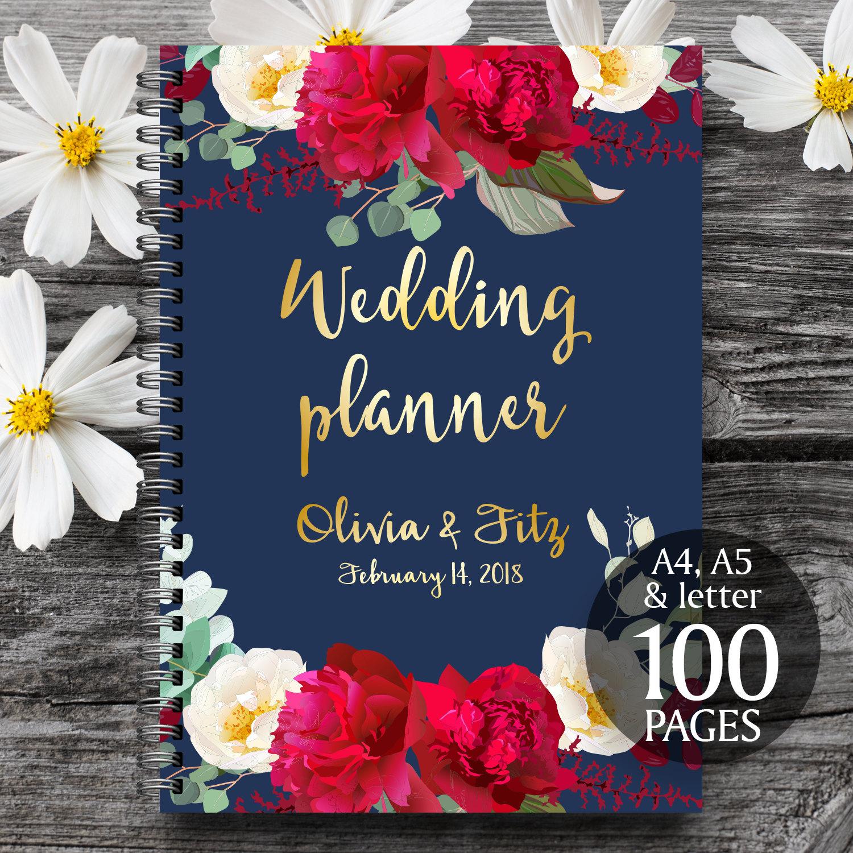 wedding binder wedding planner binder Printable wedding planner Wedding planner book DIY wedding guide PDF wedding kit Wedding binder Navy burgundy wedding Bridal planner