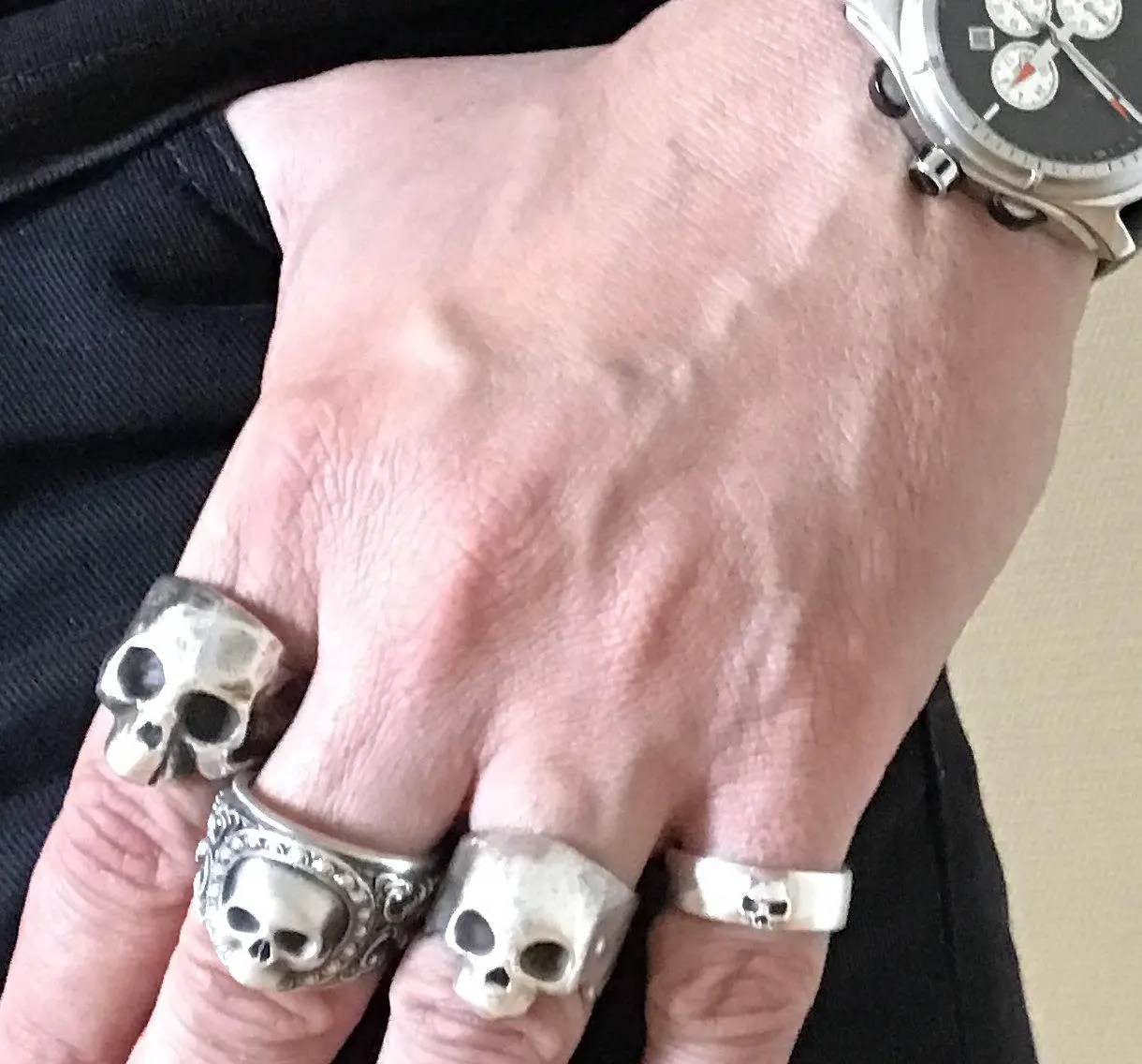 skull wedding ring grooms skull ring mens skull wedding rings Mens Skull Ring Sterling Wedding Band Wed Set All Sizes gallery photo gallery photo gallery photo gallery photo gallery photo