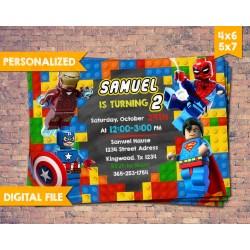 Small Crop Of Superhero Birthday Invitations
