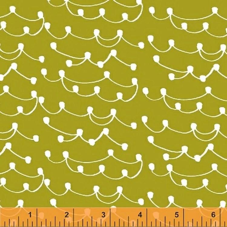 Lotta Jansdotter Fabric - Limmikki - Tippa in Lime Yellow
