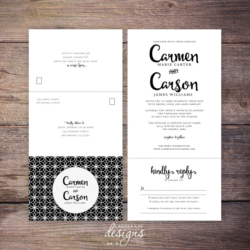 Large Of All In One Wedding Invitations