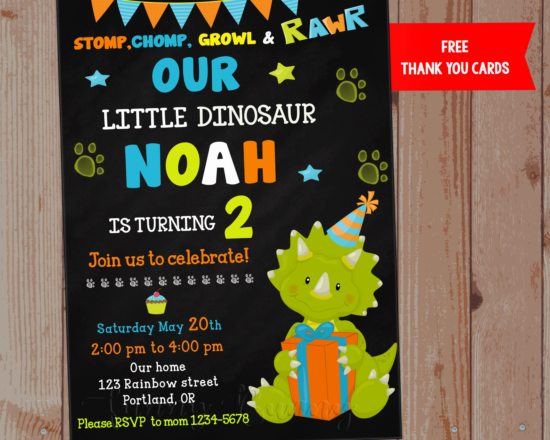 Fullsize Of Dinosaur Birthday Invitations