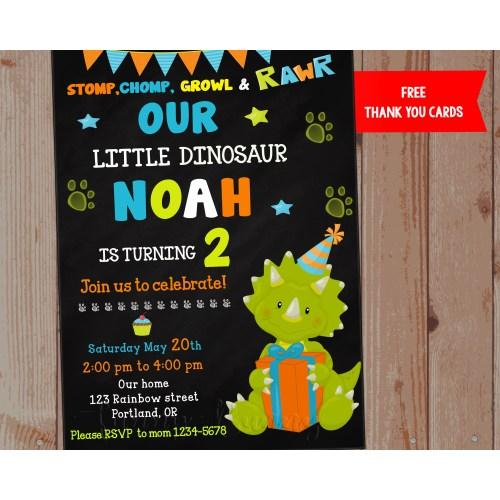 Medium Crop Of Dinosaur Birthday Invitations