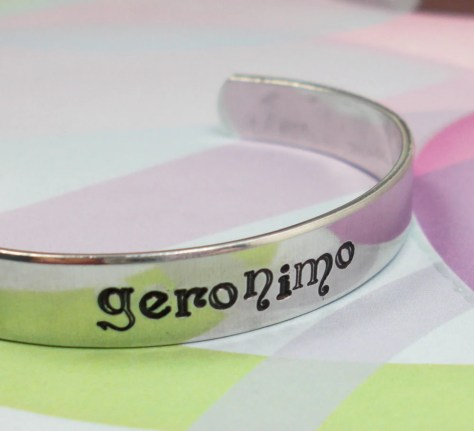 Doctor Who Bracelet: Geronimo by JustDuckieDesigns