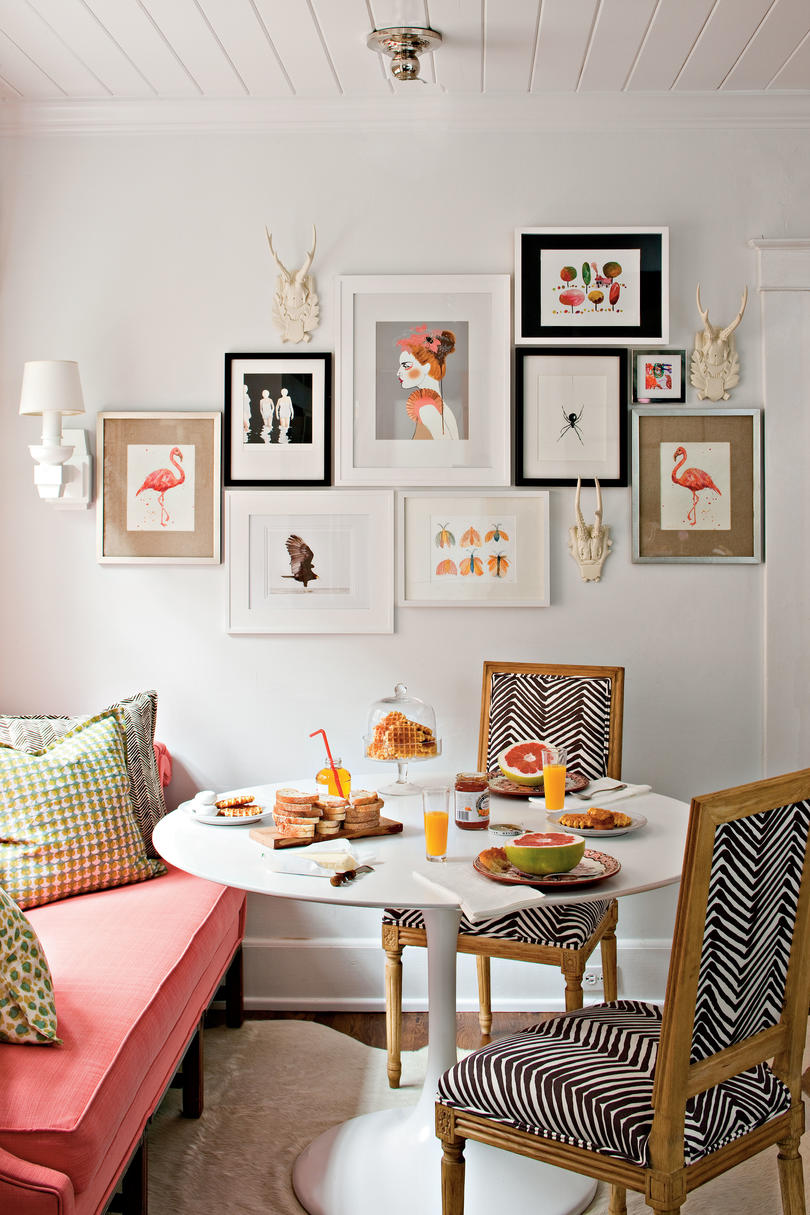 Top 10 Budget Decorating Ideas   Southern Living Budget Decorating Ideas  Create a Gallery Wall with Art