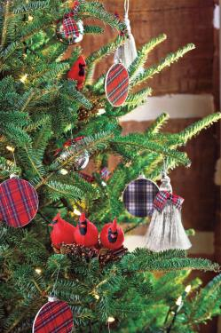 Deluxe Decorating Tartan Ornaments Fresh Decorating Ideas Sourn Living Backyard Tree Decorations Backyard Tree Decorating Ideas