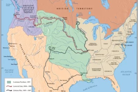 us history wall maps louisiana purchase western exploration