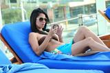Roselyn Sanchez in bikini top candids at a resort in Panama