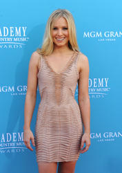 Kristen Bell leggy in tight dress attends 45th Annual Academy of Country Music Awards -