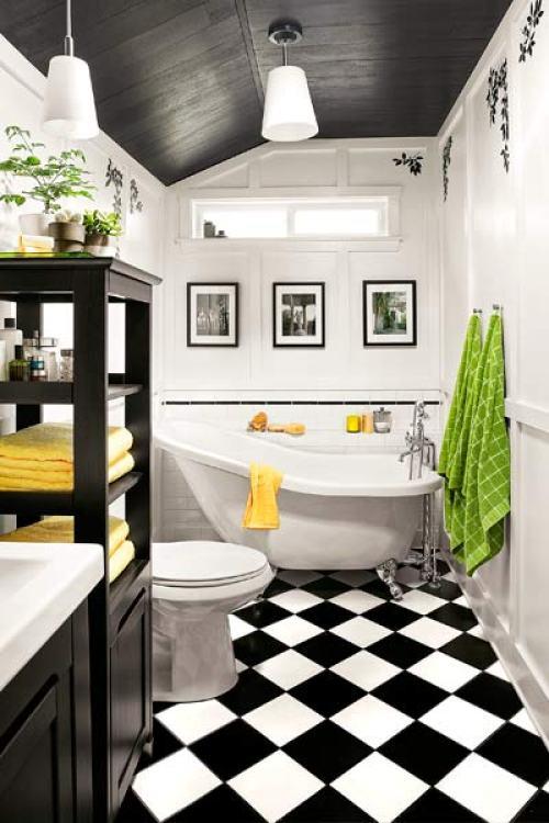 Baños Estilo Ajedrez:Inspiración para renovar el baño – Decorar Mi Casa