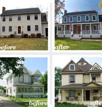 Home Exterior Remodel Before And After