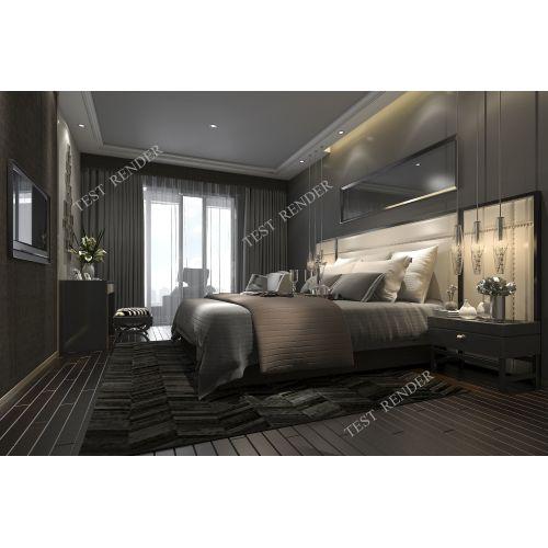 Medium Crop Of Dark Modern Bedroom