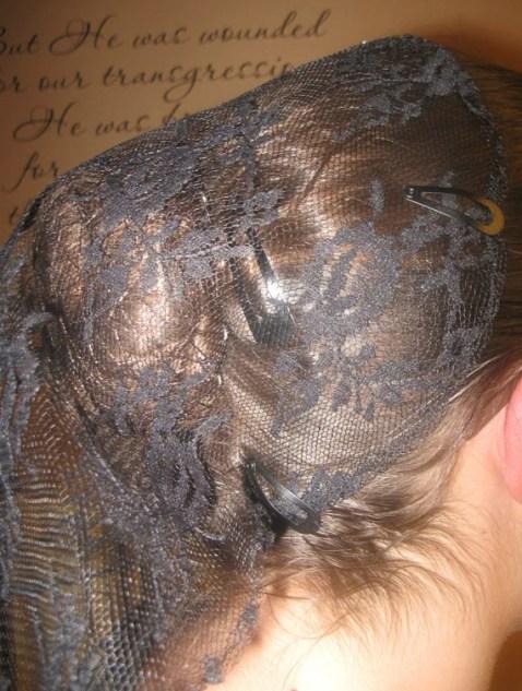 Black Lace Veil