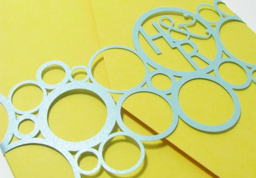 Belly bands for invitations Rings