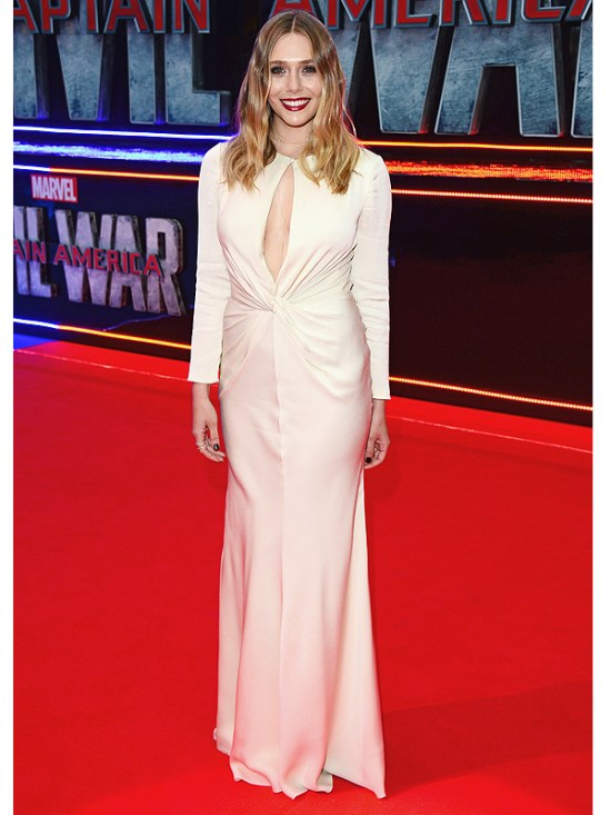 Elizabeth Olsen at Captain America: Civil War premiere