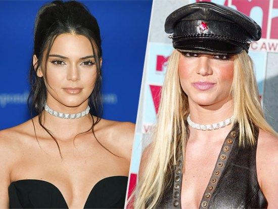 Kendall Jenner and Britney Spears Lorraine Schwartz chokers