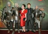 Anna Popplewell shows cleavage in red dress at The Chronicles of Narnia: Prince Caspian German premiere at the Kaltenberg Medieval Festival in Germany