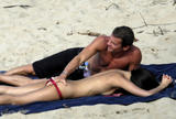 Zhang Ziyi take off red bikini showing off her breasts and ass to her boyfriend at the beach - Hot Celebs Home