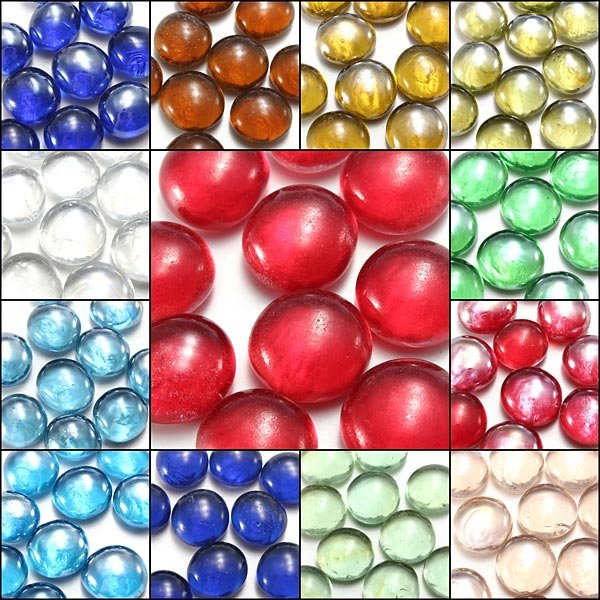 10X Gorgeous Glass Marbles 14mm Beads  Fish Tank Decoration   US$