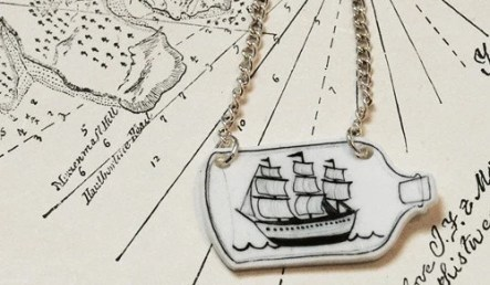 Ship in a Bottle Necklace