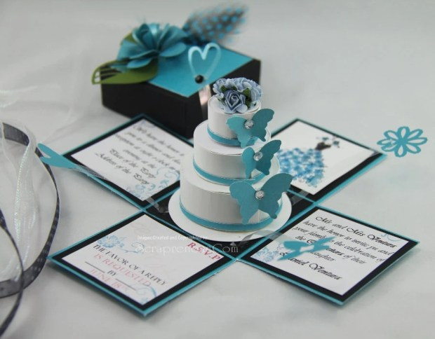 Exploding Box Invitation & 3-Tier Cake PDF Tutorials