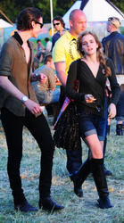 Emma Watson braless showing some pokies during Glastonbury Music Festival - Hot Celebs Home