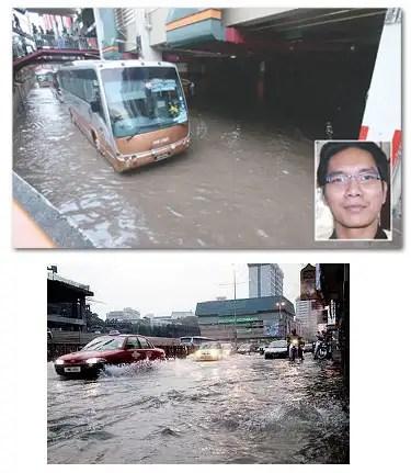 gambar puduraya, hentian puduraya banjir, banjir di puduraya, sistem perparitan yang tak bagus