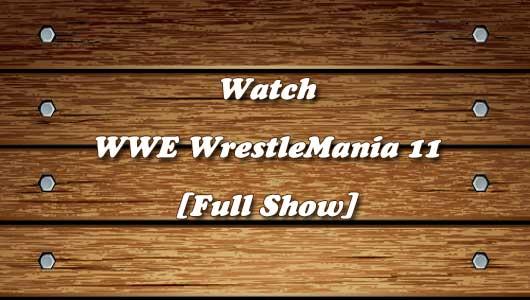 watch wrestlemania 11 full show