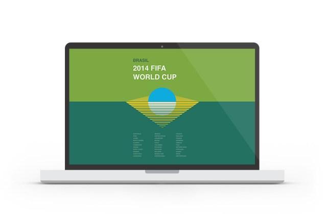 Abduzeedo's wallpaper of the week - 2014 FIFA World Cup