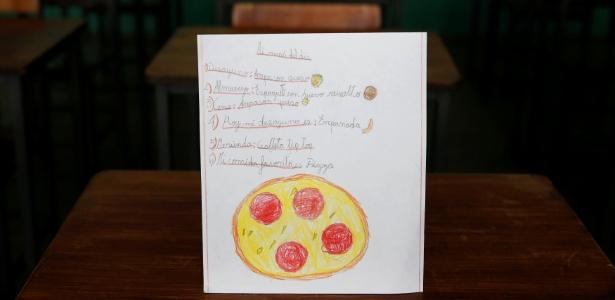 Crianças desenham alimentos e sonham com pizza e lasanha na socialista Venezuela