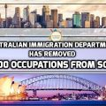 Australian Immigration Department Has Removed 200 Occupations from SOL