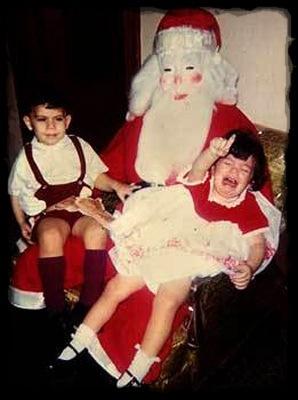 Creepy Santa with Mask Mall Santa