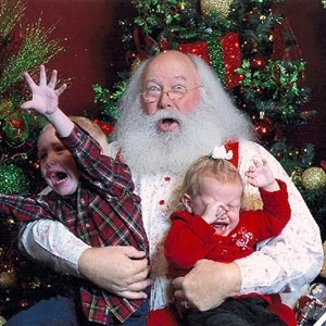 Scary Mall Santa Funny Pics