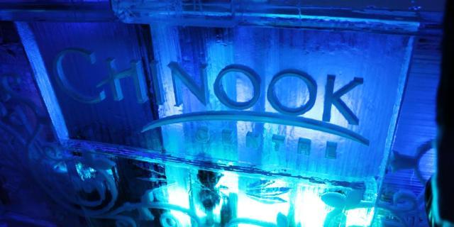 Chinook Centre Ice Scuplture