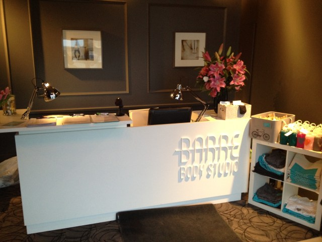Barre Body Studio Calgary Front desk FAB