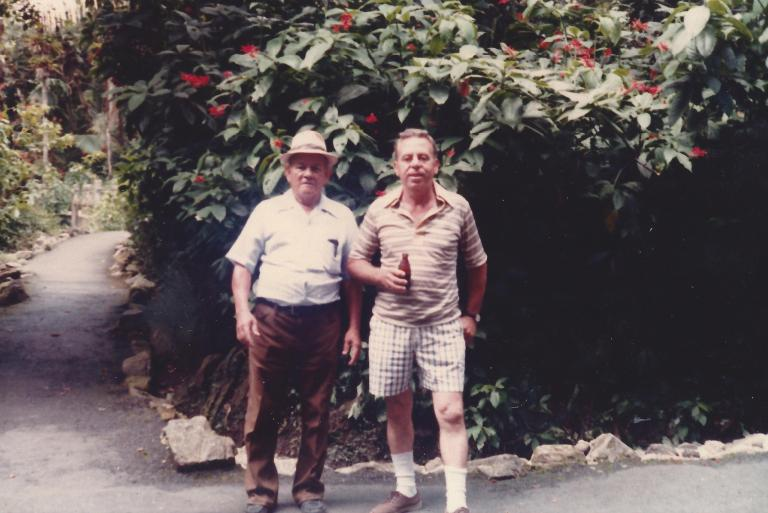 Dad with my Maternal Grandfather in Puerto Rico in 1980